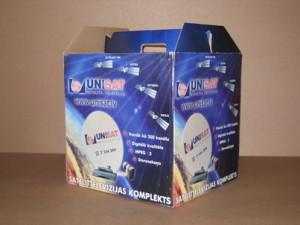 Satelliittarvikute transpordipakend